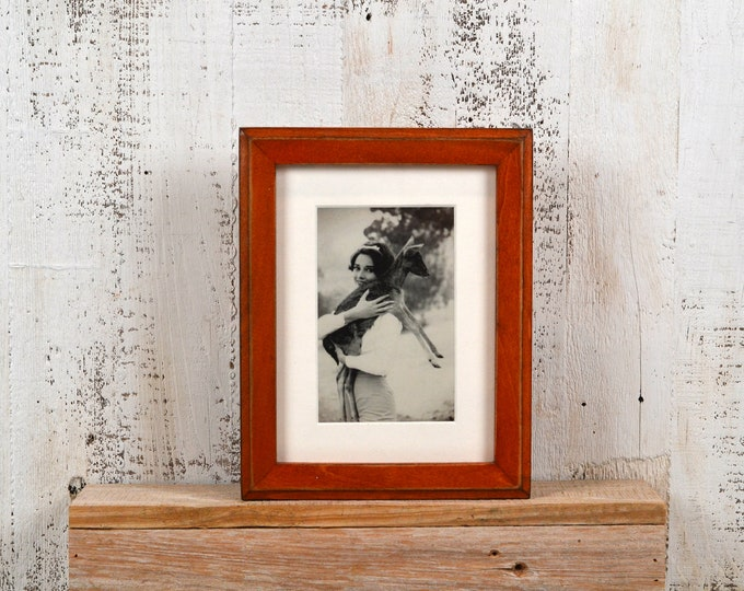 "6x8"" Picture Frame in 1x1 Outside Cove Style with Vintage Wood Tone Finish - IN STOCK - Same Day Shipping - 6 x 8 inch Picture Frames Brown"