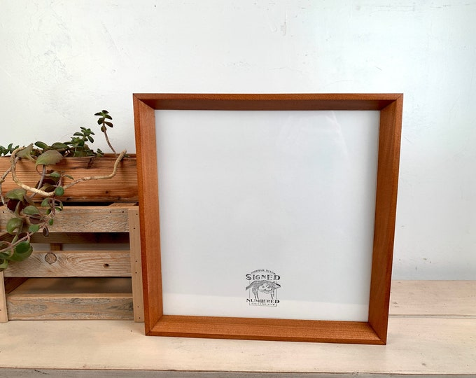 """12x12"""" Square Picture Frame in Park Slope Style with Vintage Wood Tone Finish - IN STOCK Same Day Shipping - 12 x 12 Hardwood Frame"""