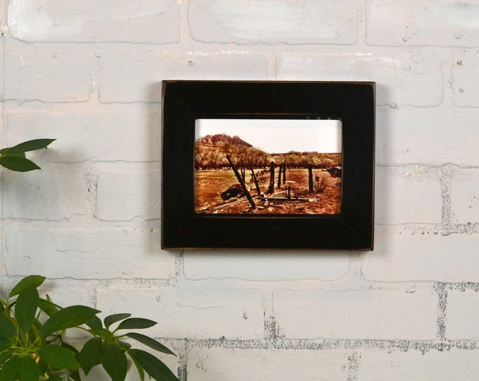 """5x7"""" Picture Frame in 1.5 Standard Style with Vintage Black Finish - IN STOCK - Same Day Shipping - 5 x 7 Photo Frame"""