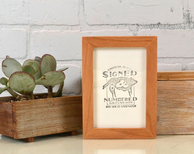 "4x6"" Picture frame in Peewee Style in Solid Natural Alder Finish - IN STOCK - Same Day Shipping - Photo Frame 4 x 6 Photo Frame Hardwood"