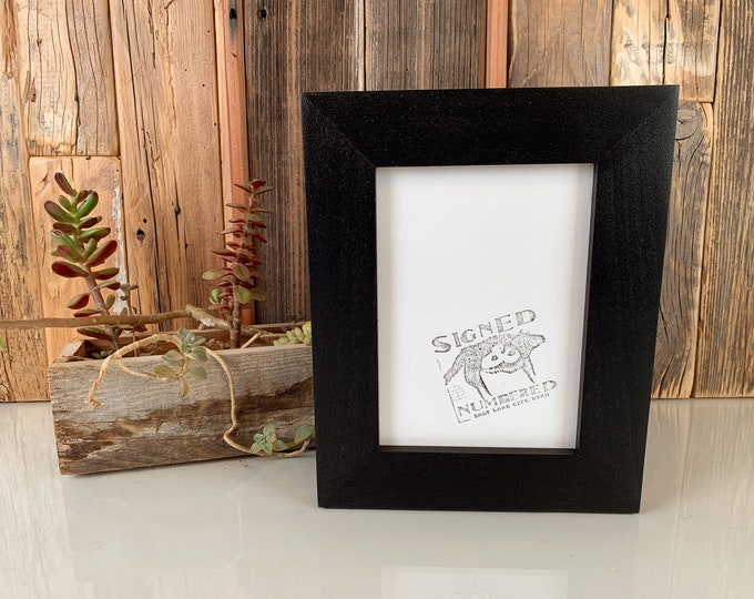 """5x7"""" Picture Frame in 1.5 Standard Style with Solid Black Finish - IN STOCK - Same Day Shipping - 5 x 7 Photo Frame"""