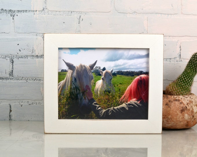 8x10 Picture Frame in 1.5 inch Standard style with Vintage White Finish - IN STOCK - Same Day Shipping - 8 x 10 White Frames
