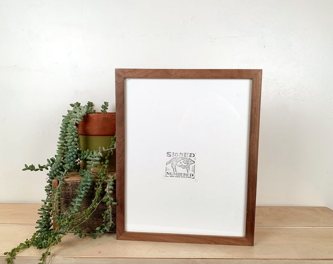 "10x14"" Picture Frame in Solid Natural Walnut Peewee Style - IN STOCK - Same Day Shipping - Handmade 10 x 14 Solid Hardwood"