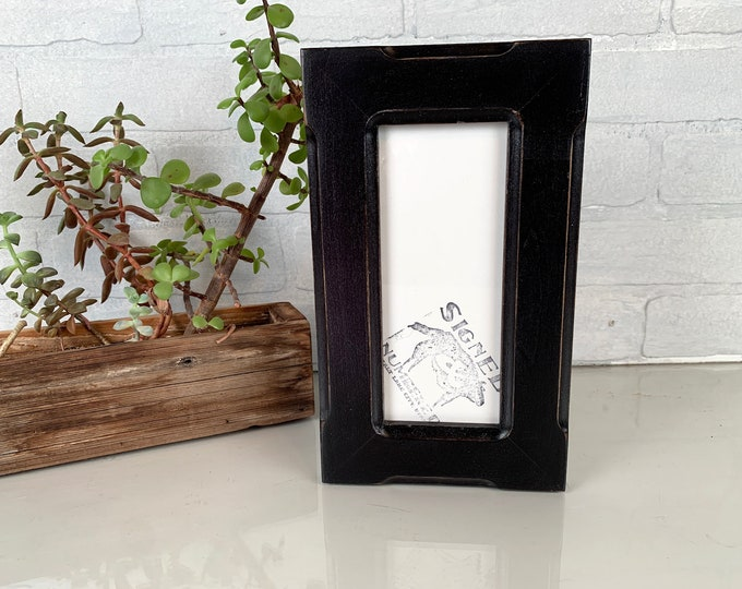 3x57 Picture Frame in 1.5 Wide Bones with Vintage Black Finish - IN STOCK - Same Day Shipping - SALE 3 x 7 inch Photo Frame
