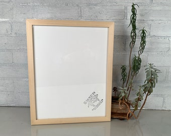 "11x14"" Picture Frame in Solid Natural Poplar Peewee Style - IN STOCK - Same Day Shipping - Handmade 11 x 14 Solid Hardwood"