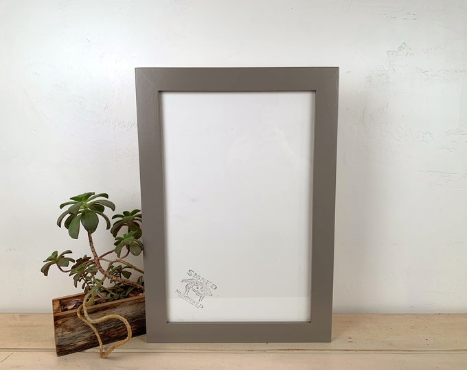 """11x17 Picture Frame in 1.5 Standard Style with Solid Grey Finish - Handmade 11 x 17"""" Photo Frame - IN STOCK  Same Day Shipping Gray"""