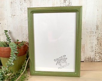 """A4 Size Picture Frame in 1x1 Double Cove Style with Vintage Guacamole Finish - IN STOCK Same Day Shipping - Frame 210 x 297 mm - 8.3 x 11.7"""""""
