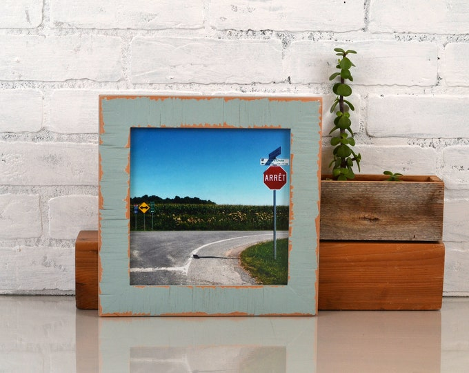 8x8 Square Picture Frame in Escalante Style with Super Vintage Homestead Green Finish - IN STOCK Same Day Shipping - 8 x 8 Photo Frame