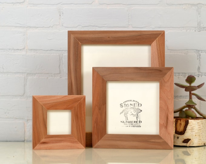 "Solid Natural WILLOW Wood Picture Frame 1.5"" Wide Style Choose your frame size 2x6, 3x3 up to 11x14, 12.5x12.5 inches - FREE SHIPPING"