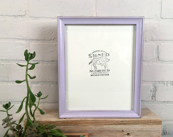 8x10 Picture Frame in Foxy Cove Style with Vintage Lilac Finish - IN STOCK - Same Day Shipping - Rustic Purple Frame 8 x 10 Free Shipping