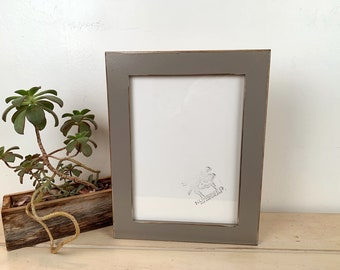 8x11 Picture Frame in 1.5 inch Standard style with Vintage Grey Finish - IN STOCK - Same Day Shipping - 11 x 8 inch Frames