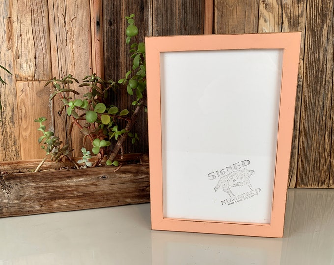 6.5x10 Picture Frame in Peewee Style with Vintage Coral Finish - Gallery frame - IN STOCK - Same Day Shipping 6.5 x 10 inch Photo Frame