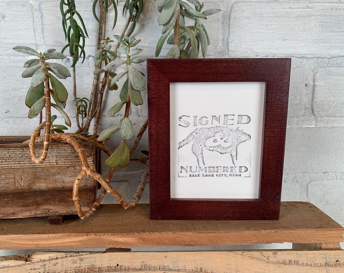 3.5x4.5 Picture Frame in Peewee Style with Solid Mahogany finish - In Stock - Same Day Shipping - Picture Frame 3.5 x 4.5 inches