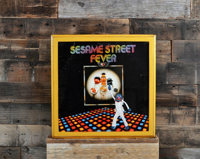 "Record LP Frame 12.5x12.5"" 1x1 Outside Cove Style with Vintage Shimmer Gold Finish - IN STOCK - Same Day Shipping - Album Cover Frame - Gold"