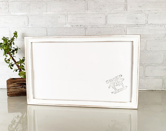 """9x15"""" Picture Frame in Deep Flat Style with Vintage Ivory Finish - IN STOCK - Same Day Shipping - 15x9"""" Panoramic Photo Frame"""