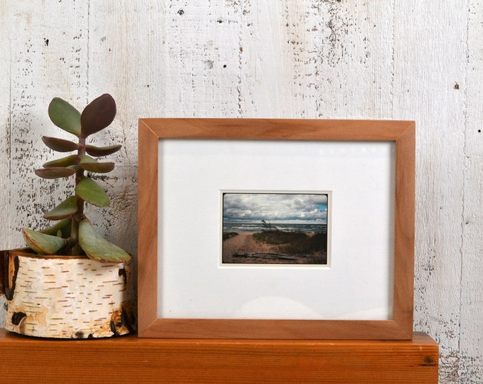 7x9 Picture Frame in Solid Natural Alder Peewee Style - IN STOCK - Same Day Shipping - 7 x 9 Mid Century Modern Frame Solid Hardwood