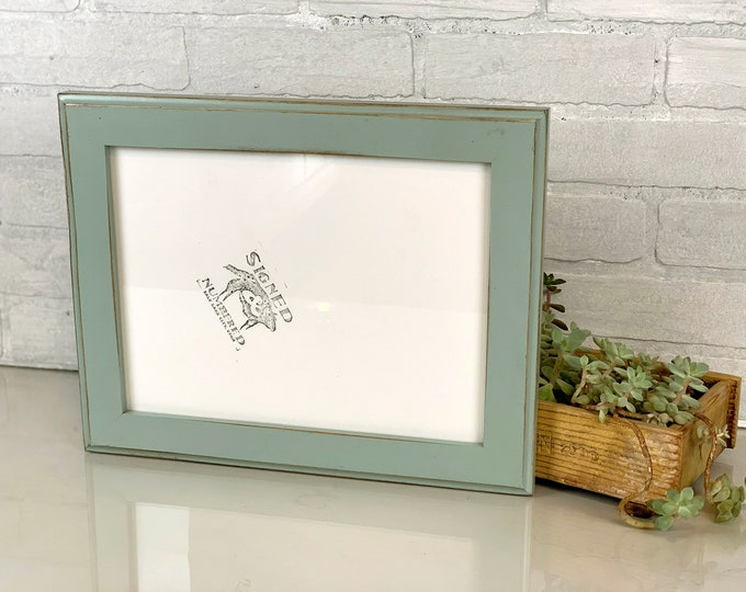 9x12 Picture Frame in 1.5 Outside Cove Style with Vintage Homestead Green Finish - IN STOCK Same Day Shipping - Handmade Frame 9 x 12 inches