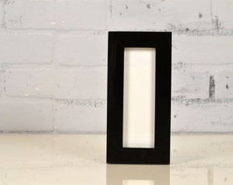 """Photo Booth Frame for 2 x 6"""" Picture Strip - SHIPS TODAY - 1x1 Flat Style with Solid Black Finish - In Stock - 2x6 inch Size"""