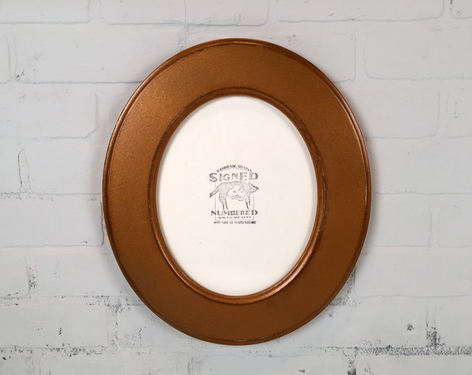 8x10 Oval Opening Picture Frame Oval Shaped Outside in Finish COLOR of YOUR CHOICE - Solid Poplar Wood 8 x 10 Photo Frames Round Ellipse