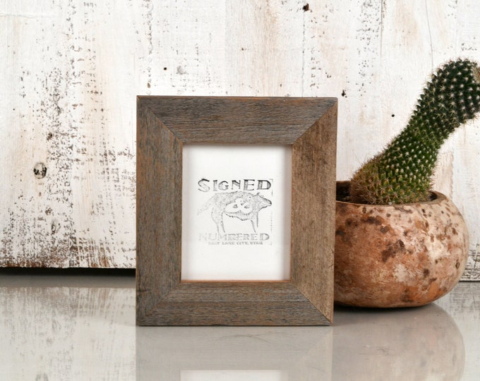 4x5 Picture Frame in Rustic Natural Reclaimed Cedar - In Stock - Same Day Shipping - Unique Rustic Picture Frame 4 x 5 inches