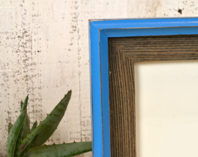 Vintage Color of Your Choice in Rustic Cedar Build Up Choose your frame size 2x2 up to 16x20 inches - FREE SHIPPING Reclaimed Wood Frame