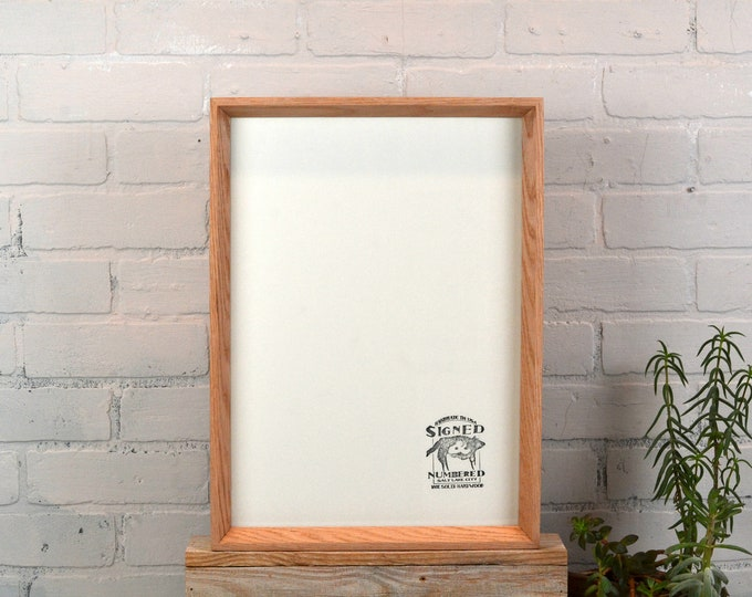 A3 Size Picture Frame in Park Slope Style with Natural Oak Finish IN STOCK Same Day Ship with *Plexiglass 297 x 420 mm - 11.7 x 16.5 inches