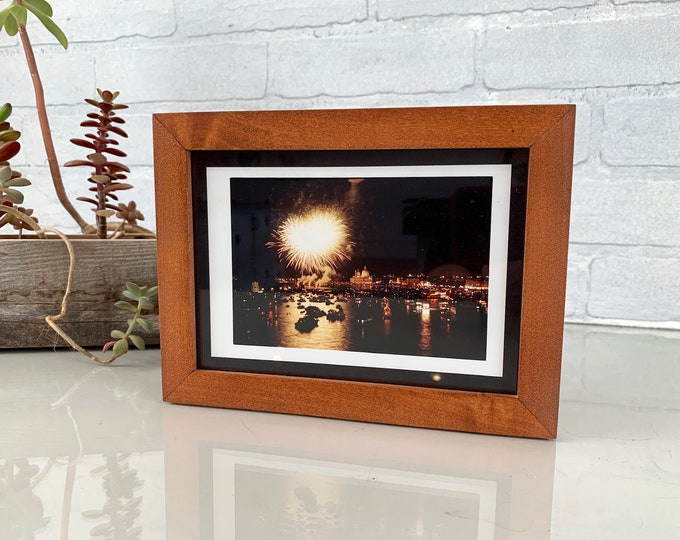 """5x7"""" Picture Frame in PeeWee Style with Solid Wood Tone Finish - IN STOCK - Same Day Shipping - Gallery Frame 5 x 7 Solid Hardwood"""