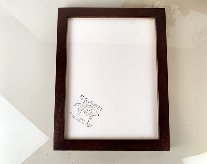 8.5 x 11 Picture Frame in 1x1 Flat Style with Vintage Black Finish - IN STOCK Same Day Shipping - 8.5x11 inch Picture Frame Black