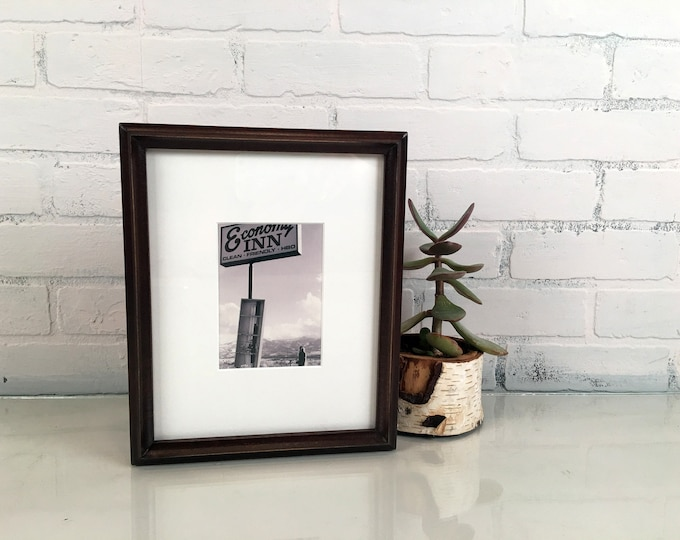 8x10 Picture Frame in Better Deep Double Cove Style with Vintage Dark Wood Tone Finish - IN STOCK - Same Day Shipping Wood Frame 8 x 10