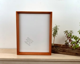 11 x 14 Picture Frame in Park Slope Style with Vintage Wood Tone Finish - IN STOCK - Same Day Shipping - 11x14 Sale Frames Modern Brown