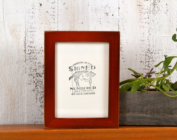 5x7 inch Picture Frame in 1x1 Flat Style with Vintage Wood Tone Finish - IN STOCK - Same Day Shipping - 5 x 7 Photo Frame Brown