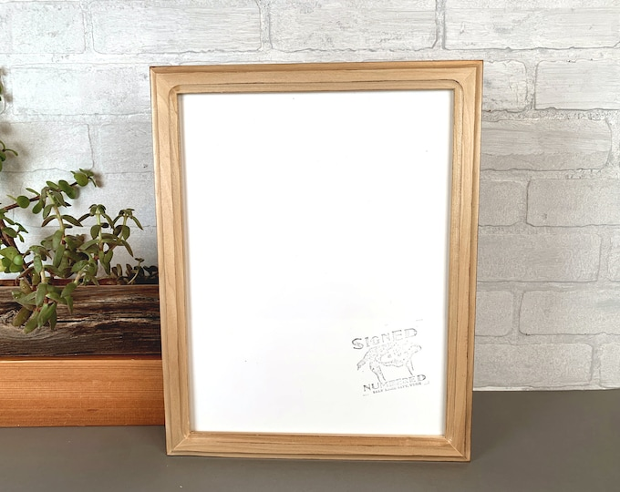 "10x13"" Picture Frame in 1x1 Double Cove Style with Burnished Poplar Finish - IN STOCK - Same Day Shipping - Handmade 10 x 13 Solid Hardwood"