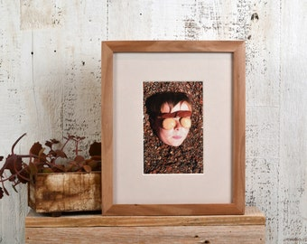 8x10 Picture Frame in Peewee Style on Natural Willow Wood - IN STOCK - Same Day Shipping - 8x10 Photo Frame Solid Hardwood