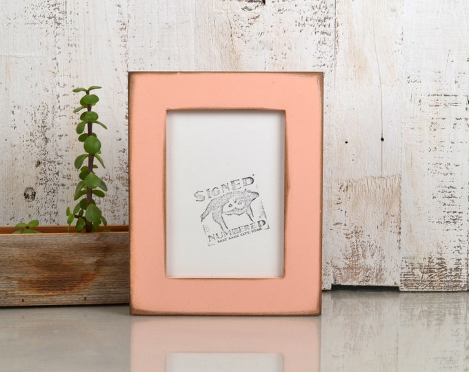 "5x7"" Picture Frame in 1.5 Standard Style with Super Vintage Coral Finish - IN STOCK - Same Day Shipping - 5 x 7 Photo Frame"