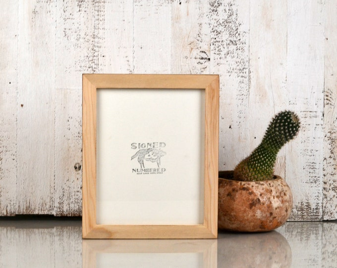 8x10 Picture Frame in 1x1 Flat Style with Burnished Natural Poplar Finish - IN STOCK - Same Day Shipping - Rustic Solid Wood Frame 8 x 10