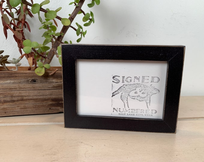 """3.5x5"""" Picture Frame in Peewee Style with Vintage Black finish - In Stock - Same Day Shipping - Picture Frame 3.5 x 5 inches"""
