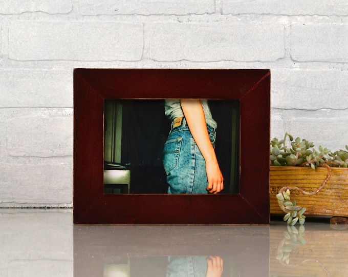 "5x7"" Picture Frame in 1.5 Standard Style with Vintage Mahogany Finish - IN STOCK - Same Day Shipping - 5 x 7 Photo Frame"