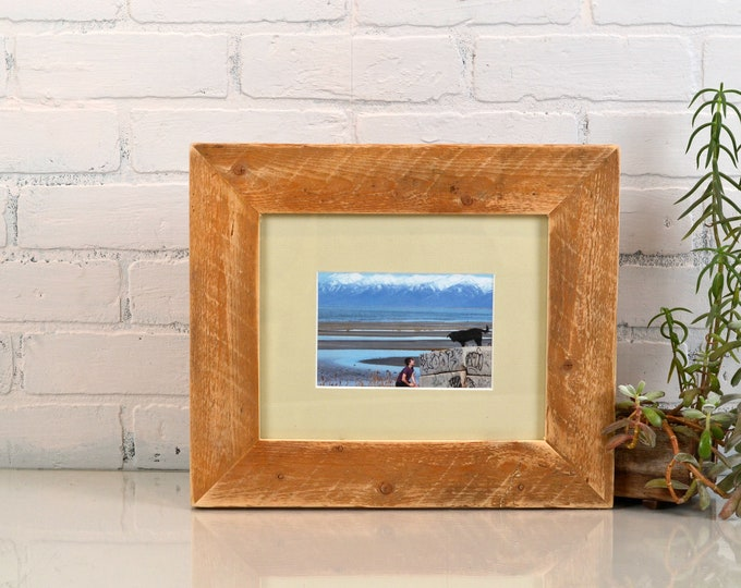 "8x10 Picture Frame in 2.25"" wide Reclaimed Pine with Rustic Natural Finish - IN STOCK - Same Day Shipping - Rustic Frame Upcycled Wood"