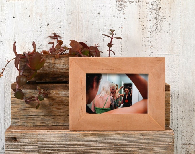 "4x6 Picture Frame in Natural Willow Wood 1.5"" Standard Style - IN STOCK - Same Day Shipping - SALE 4 x 6 Photo Frame Modern"
