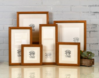 SET of SIX Double Cove Style Frames for SQUARE Photos in Frame and Mat Color of Your Choice - Gallery Wall - Gallery Set of Frames - Square