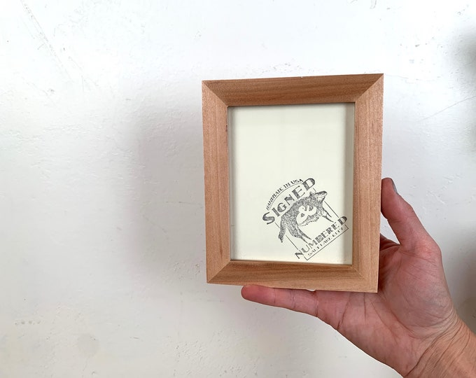 4x5 Picture Frame - SHIPS TODAY - Peewee Style in Solid Natural Willow - In Stock - Same Day Shipping - Unique Picture Frame 4 x 5 inches