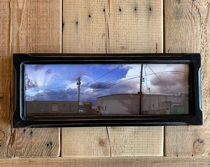 """5x15"""" Picture Frame in Shallow Bones Style with Vintage Black Finish - IN STOCK - Same Day Shipping - 15 x 5 Panoramic Photo Frame"""