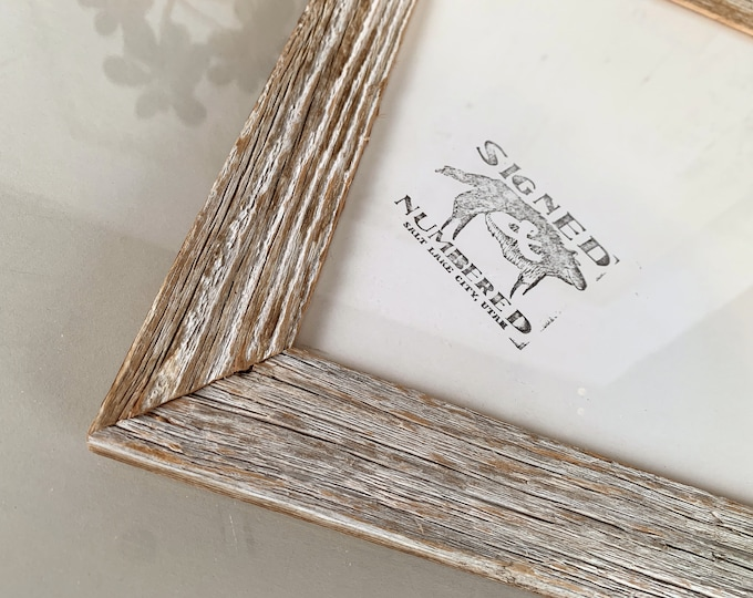 """8x10 Rustic White Wash Reclaimed Cedar Picture Frame IN STOCK - Same Day Shipping - Upcycled 8 x 10 Reclaimed Wood Photo Frame -8x10"""" Frames"""