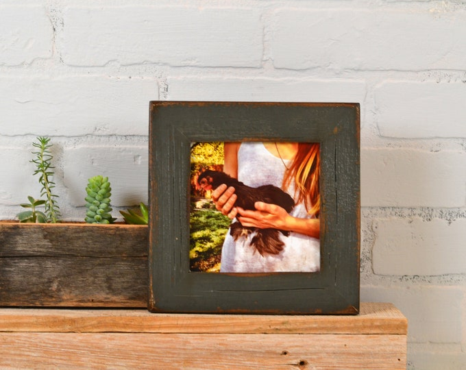"""5x5"""" Square Picture Frame in Reclaimed Cedar with Super Vintage Sable Finish - IN STOCK - Same Day Shipping - 5 x 5 Reclaimed"""