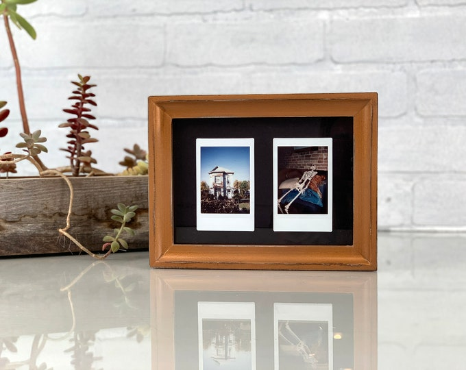 5x7 Picture Frame in Foxy Cove Style with Vintage Smokey Blue Finish - IN STOCK - Same Day Shipping - 5 x 7 Frame Solid Hardwood Rustic