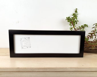 "5x16"" Picture Frame in 1x1 Flat Style with Solid Black Finish - IN STOCK - Same Day Shipping - 16 x 5 Panoramic Photo Frame"