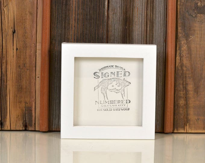 """5x5 inch Square Picture Frame in Deep Flat Style with Solid White Finish - IN STOCK - Same Day Shipping - 5 x 5"""" Modern White Frame"""