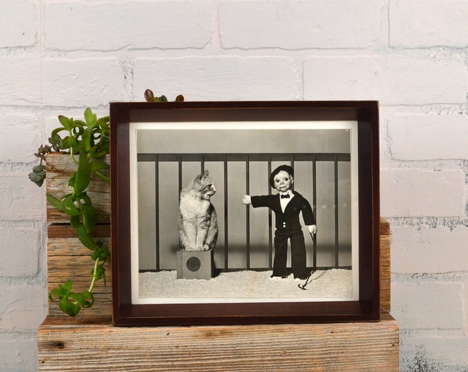 8x10 Picture Frame with Vintage Mahogany Finish in Park Slope Style - IN STOCK - Same Day Shipping - 8 x 10 Photo Frame Brown
