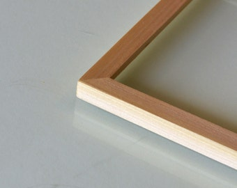 Natural POPLAR Picture Frame in Peewee style- Choose Size: 2x2 up to 11x14  - solid hardwood, simple, modern, minimal