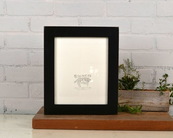 8x10 Picture Frame in 1.5 inch Standard style with Vintage Black Finish - IN STOCK - Same Day Shipping - 8 x 10 Black Frames